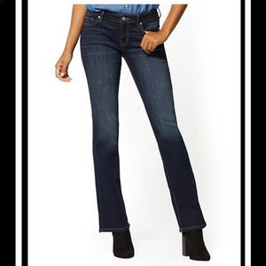 New York & Company Curvy Bootcut Jeans-size 8